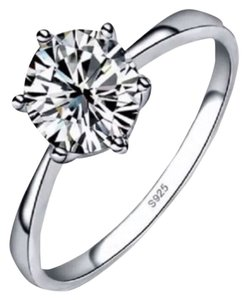1.2 CT Solitaire Cz .925 Sterling Silver