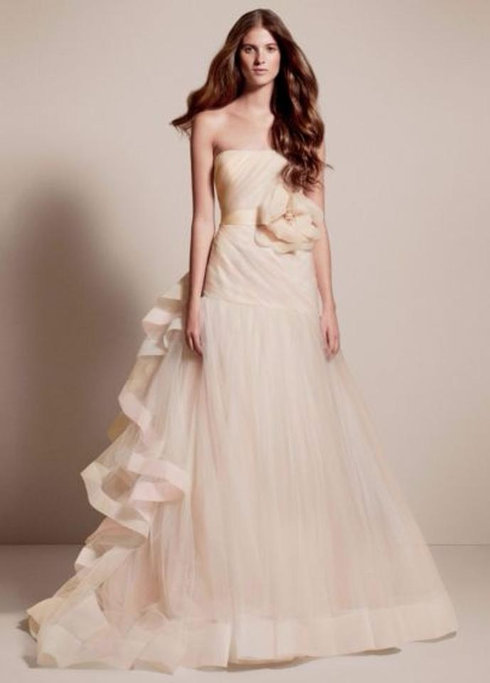 c032c42f67ebf White by Vera Wang Blush/Multi Tulle Style: Vw351199 Feminine Wedding Dress  Size 6 ...
