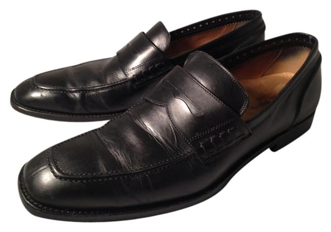 Cole Haan Black Leather Men's Nike Air Penny Loafers Flats Size US 9.5 Regular (M, B) Cole Haan Black Leather Men's Nike Air Penny Loafers Flats Size US 9.5 Regular (M, B) Image 1