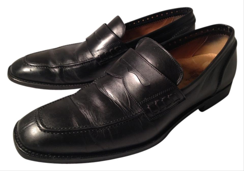 8597d486956 Cole Haan Black Leather Men s Nike Air Penny Loafers Flats Size US ...