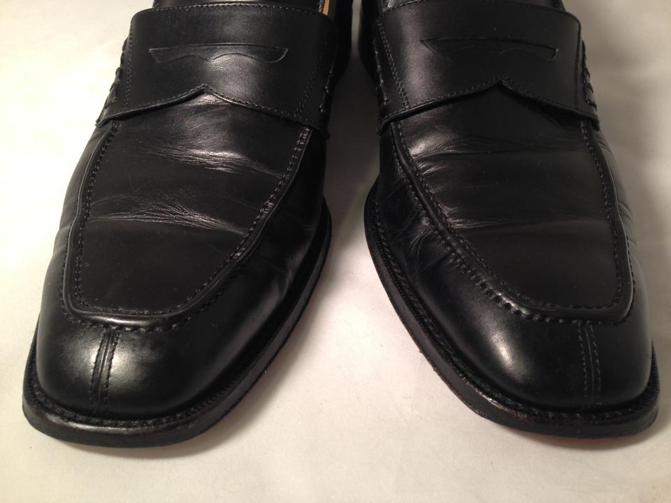 Cole Haan Black Leather Men s Nike Air Penny Loafers Flats. Size  US ... 148b2657e