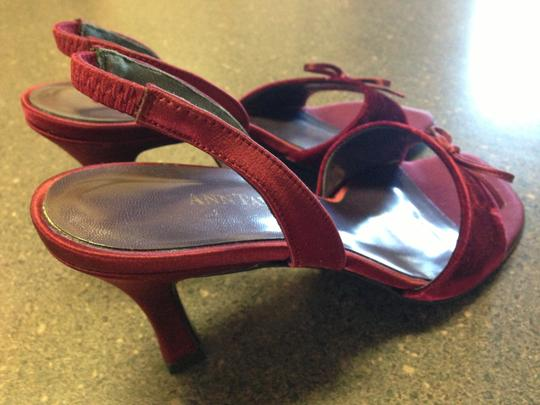 Ann Taylor Burgundy Slingback Suede Flirty Red Formal
