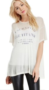 Wildfox T Shirt White sheer with Grey lettering