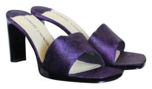 Chinese Laundry Faux Python Python Satin Purple Mules