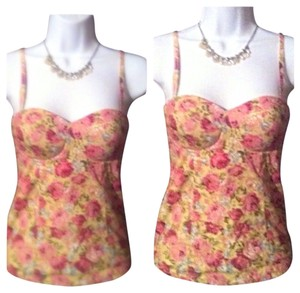 Flower Tank Top Cotton Top Multi-color