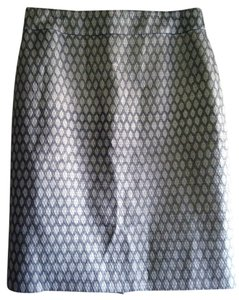 J.Crew Skirt Metallic Gray Jacquard