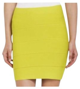 BCBGMAXAZRIA Mini Skirt Lime