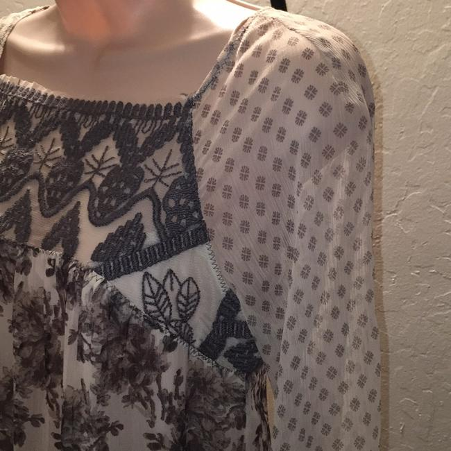 Free People short dress Multi cream and brown flowers print on Tradesy Image 2