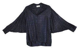 Emilio Pucci Batwing Shimmery Top cobalt blue