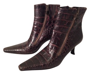 Donald J Pliner Animal Print Leather Antique Brown Boots