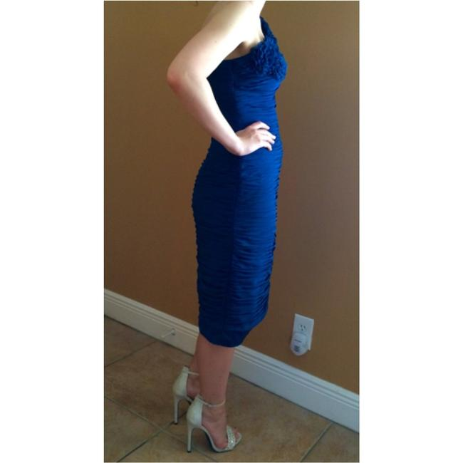 Adrianna Papell Blue Wedding Prom Knee Length Formal Dress Size 4 ...
