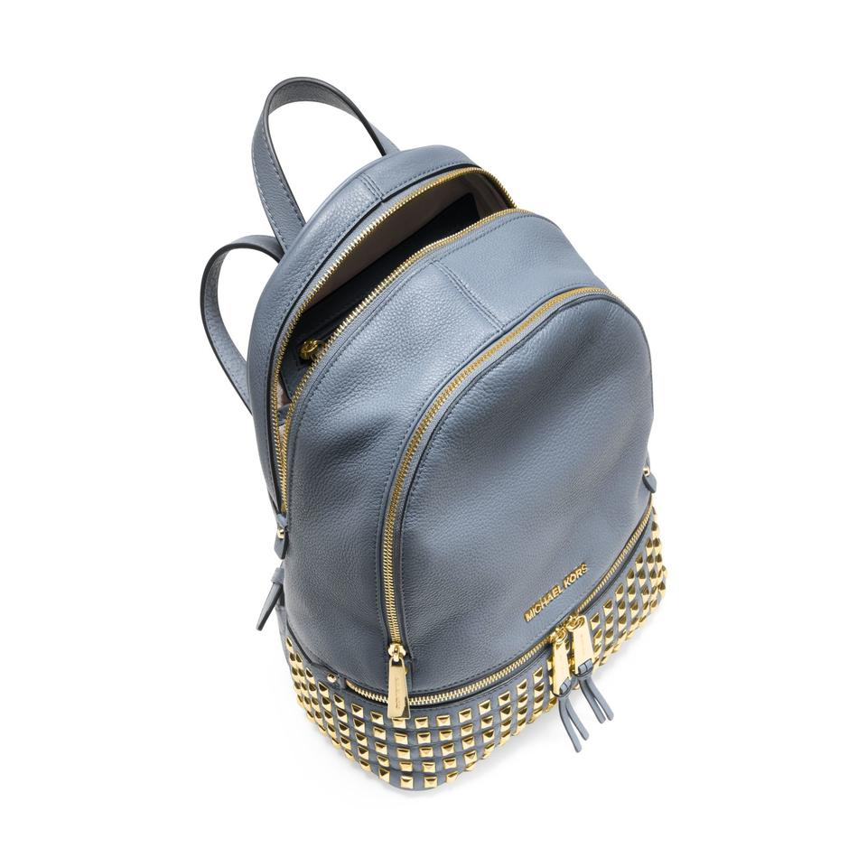 5d933b8caa63 ... pale blue genuine pebble leather backpack wholesale michael kors rhea  small studded leather backpack.