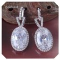 Other White Sapphire Oval Earrings Image 0