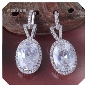 Other White Sapphire Oval Earrings