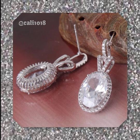Other White Sapphire Oval Earrings Image 1