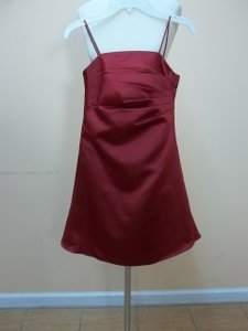Alfred Angelo Claret Satin 6129snmm Formal Bridesmaid/Mob Dress Size OS (one size)