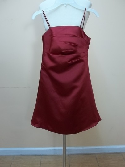 Alfred Angelo Satin 6129snmm Formal Bridesmaid/Mob Dress Size OS (one size)