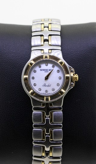 Raymond Weil * Parsifal 18k/SS Diamond and White Mother Of Pearl Dial Watch Image 4