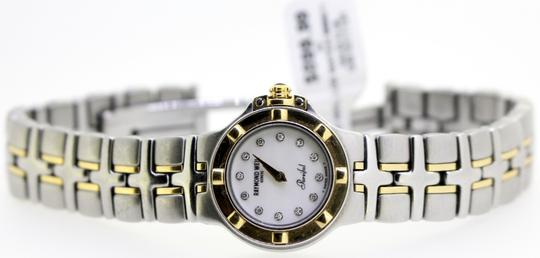 Raymond Weil * Parsifal 18k/SS Diamond and White Mother Of Pearl Dial Watch Image 8