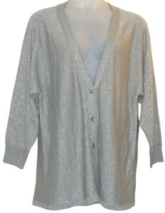 Ulla Popken Metallic Knit Cardigan