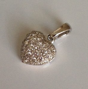 Cartier Cartier Pave Diamond 18k White Gold Heart Pendant