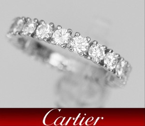 Cartier Cartier Platinum Brilliant Cut Diamond Wedding Eternity Band Ring 1.45 Ct Sz 5