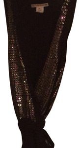 Nanette Lepore Top Brown with Multicolor Sequins
