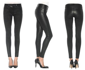 JOE'S Jeans Leather Leather Leather Black Chic Skinny Pants Black Leather
