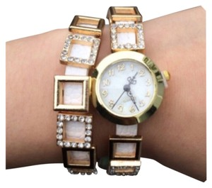 T&J Designs Faux Leather Layered Watch