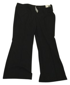 New York & Company 18 Petite Petite Flare Pants Black with black stripe