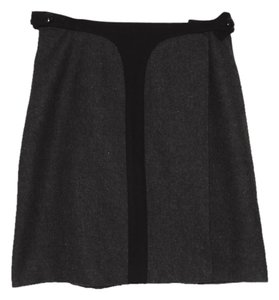 Robert Rodriguez Wool Skirt charcoal gray & black