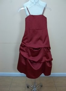 Alfred Angelo Claret Satin 6495mm Formal Bridesmaid/Mob Dress Size OS (one size)