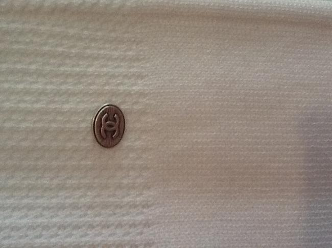 Chanel short dress White with black trim on Tradesy