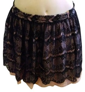 Forever 21 Lace Size Medium Skirt Black light pink