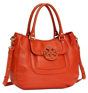 Tory Burch Amanda Coral Crossbody Dustbag Classic Satchel in Orange