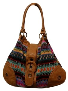 ALDO Boho Rainbow Leather Summer Satchel in Multi