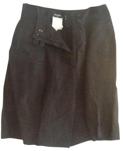 Chanel Bermuda Shorts Black linen