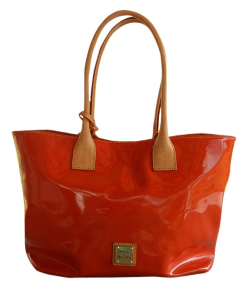 Dooney Bourke Discontinued Large Snap Closure Zippered Compartments Outside Logo Plaque Inside Tote In