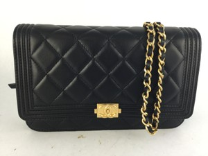 Chanel Lambskin Le Boy Woc Cross Body Bag