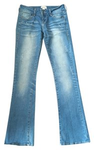 Forever 21 Classic Denim Boot Cut Jeans-Light Wash