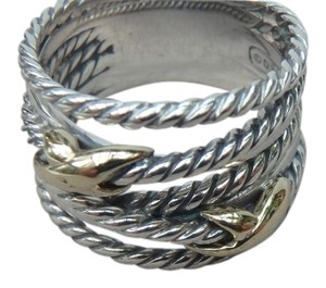 David Yurman DAVID YURMAN DAVID YURMAN new with pouch Double X Ring With Gold size 8
