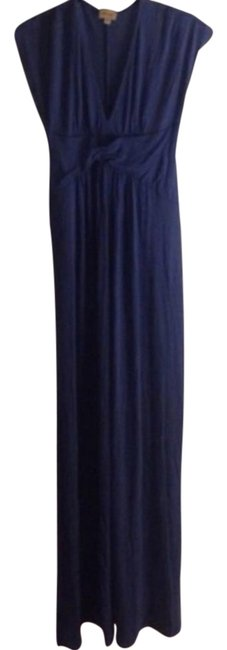 Blue Maxi Dress by Ella Moss Maxi Empire Waist Embellished Knit Long Maxi