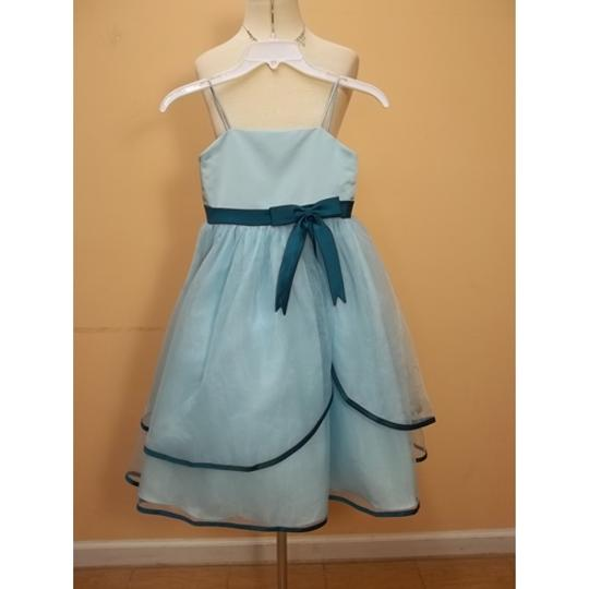 Alfred Angelo Robin's Egg Blue/Tealness Satin 6604 Formal Bridesmaid/Mob Dress Size OS (one size)