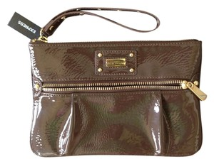 Express Casual Gold Hardware Gold Studded Wristlet in Brown