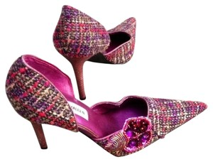Steve Madden Multi/Pink and Purple Pumps