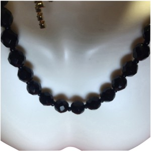 Trifari Trifari Black Crystal necklace choker