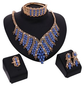 Other Fashion Beads Statement 18K Gold Plated Jewelry Set