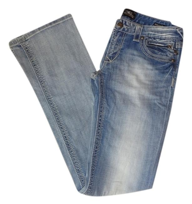 Item - Blue Light Wash Barely Long Boot Cut Jeans Size 29 (6, M)