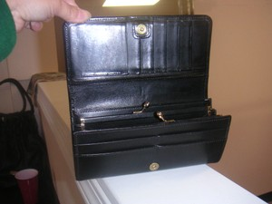 Coach Vintage Coach Black Leather Wallet