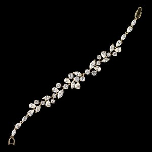Elegance By Carbonneau Gold Plated Multi Cut Cz Wedding Bracelet